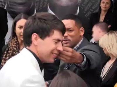 Уилл Смит поцеловал украинского журналиста