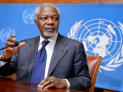 В Сирии Аннан призывает к созданию временного правительства