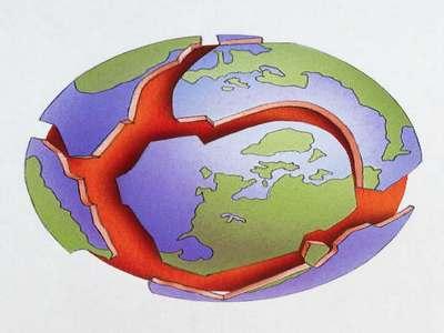 Время начала движения земной коры определено